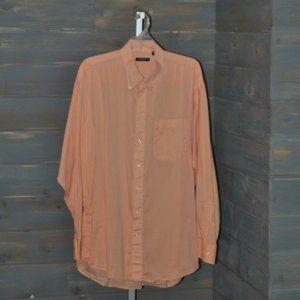 Men's Burberry London Long Sleeve Dress Shirt, XL